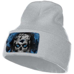 3D Skull Panthers Knit Hat Cap-Heroinhere
