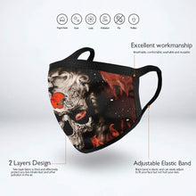 Load image into Gallery viewer, QIANOU66 3D Skull Browns Anti-infective Polyester Face Mask-Heroinhere