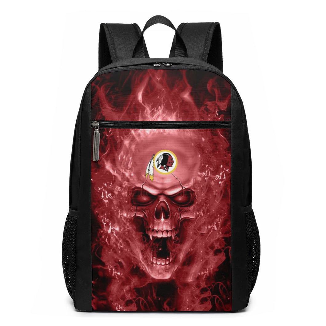 3D Skull Redskins Travel Laptop Backpack 17 IN-Heroinhere