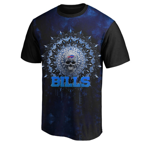 Bills 3D Skull T-Shirts-Heroinhere