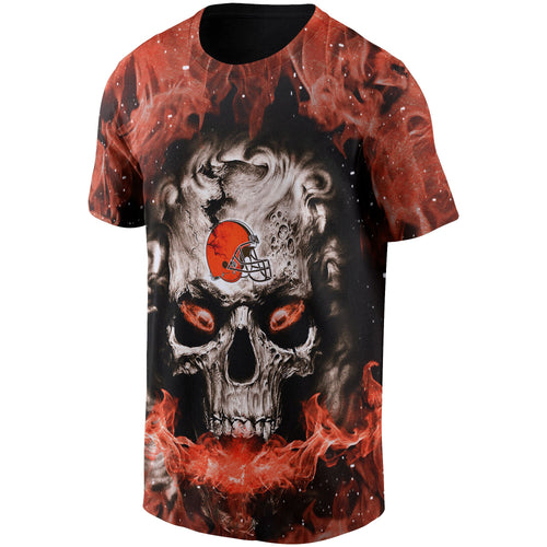 Browns 3D Skull T shirts-Heroinhere