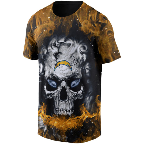 Chargers 3D Skull T shirts-Heroinhere