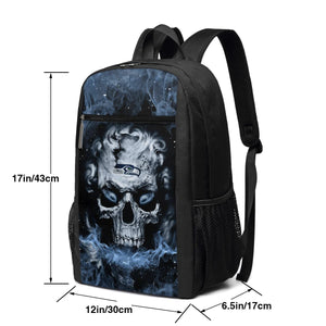 3D Skull Seahawks Travel Laptop Backpack 17 IN-Heroinhere