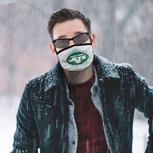 Jets Logo Anti-infective Polyester Face Mask-Heroinhere
