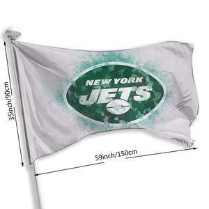 Jets Logo Flag 3*5 ft-Heroinhere