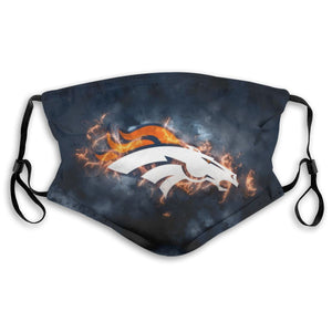 Broncos Illustration Art Anti-infective Polyester Face Mask With Filter-Heroinhere