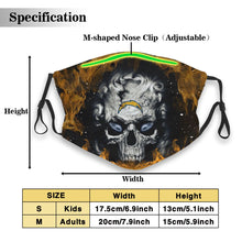 Load image into Gallery viewer, 3D Skull Chargers Anti-infective Polyester Face Mask With Filter-Heroinhere