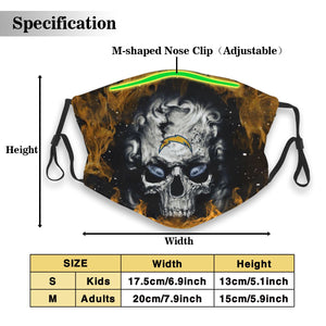 3D Skull Chargers Anti-infective Polyester Face Mask With Filter-Heroinhere