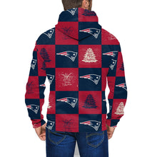 Load image into Gallery viewer, Patriots Team Ugly Christmas Men's Zip Hooded Sweatshirt-Heroinhere