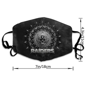Raiders Anti-infective Polyester Face Mask-Heroinhere