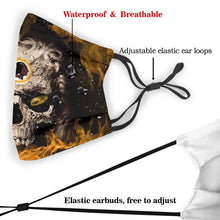 Load image into Gallery viewer, 3D Skull Redskins Anti-infective Polyester Face Mask With Filter-Heroinhere