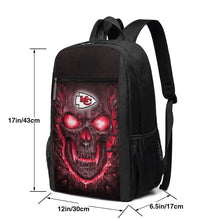 Load image into Gallery viewer, Chiefs Skull Lava Travel Laptop Backpack 17 IN-Heroinhere