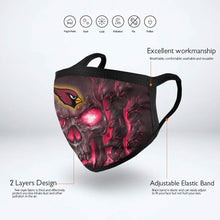 Load image into Gallery viewer, QIANOU66 Skull Lava Cardinals Anti-infective Polyester Face Mask-Heroinhere