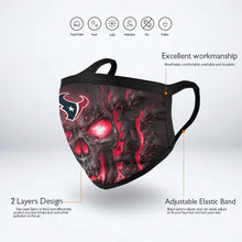 Load image into Gallery viewer, QIANOU66 Skull Lava Texans Anti-infective Polyester Face Mask-Heroinhere