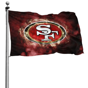 49ers Illustration Art Flag 4*6 ft-Heroinhere