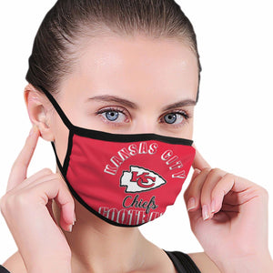 Chiefs Football Team Anti-infective Polyester Face Mask-Heroinhere