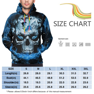 QIANOU66 3D Skull Lions Hoodies For Men Pullover Sweatshirt-Heroinhere