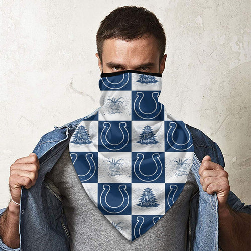 Colts Team Ugly Christmas Obacle Seamless Bandana Rave Face Mask-Heroinhere