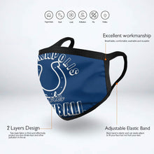 Load image into Gallery viewer, Colts Football Team Anti-infective Polyester Face Mask-Heroinhere