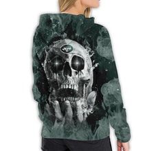 Load image into Gallery viewer, QIANOU66 3D Skull Jets Hoodies For Women Pullover Sweatshirt-Heroinhere