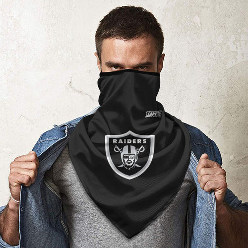 100 Raiders Football Team Obacle Seamless Bandana Rave Face Mask-Heroinhere