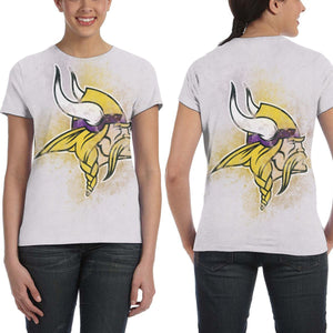 Vikings Logo T Shirts For Women-Heroinhere