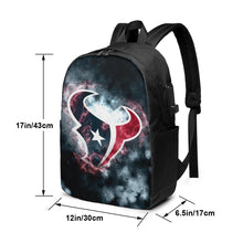 Load image into Gallery viewer, Texans Illustration Art Travel Laptop Backpack USB Backpack 17 IN-Heroinhere