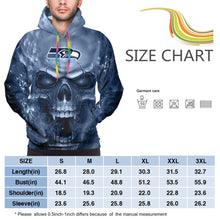 Load image into Gallery viewer, 3D Skull Seahawks Hoodies For Men Pullover Sweatshirt-Heroinhere