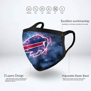 Bills Illustration Art Anti-infective Polyester Face Mask-Heroinhere