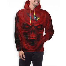 Load image into Gallery viewer, 3D Skull Cardinals Hoodies For Men Pullover Sweatshirt-Heroinhere