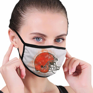 Browns Logo Anti-infective Polyester Face Mask-Heroinhere