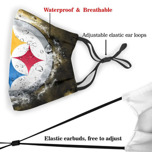 Steelers Illustration Art Anti-infective Polyester Face Mask With Filter-Heroinhere