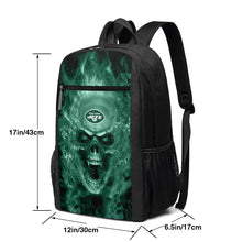 Load image into Gallery viewer, 3D Skull Jets Travel Laptop Backpack 17 IN-Heroinhere