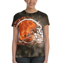 Load image into Gallery viewer, Browns Illustration Art T Shirts For Women-Heroinhere