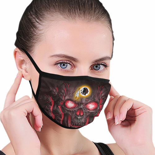 QIANOU66 Skull Lava Redskins Anti-infective Polyester Face Mask-Heroinhere
