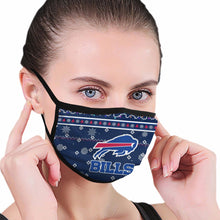 Load image into Gallery viewer, Bills Team Christmas Ugly Anti-infective Polyester Face Mask-Heroinhere