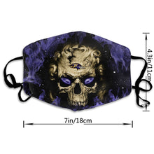 Load image into Gallery viewer, QIANOU66 3D Skull Ravens Anti-infective Polyester Face Mask-Heroinhere