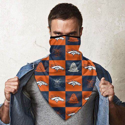 Broncos Team Ugly Christmas Obacle Seamless Bandana Rave Face Mask-Heroinhere