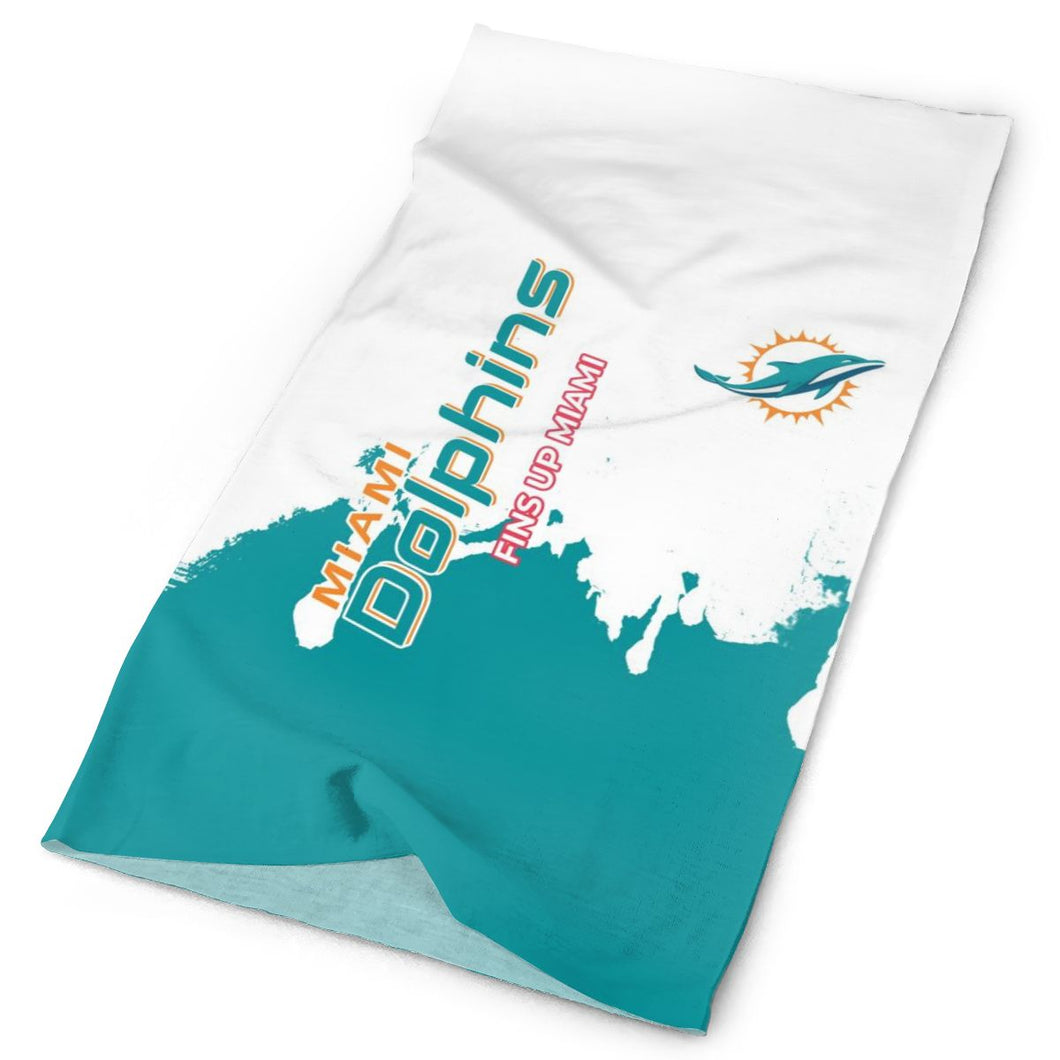Dolphins Team Multi-Functional Seamiess Rave Mask Bandana-Heroinhere
