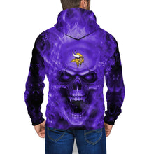 Load image into Gallery viewer, 3D Skull Vikings Men's Zip Hooded Sweatshirt-Heroinhere