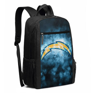 Chargers Illustration Art Travel Laptop Backpack 17 IN-Heroinhere