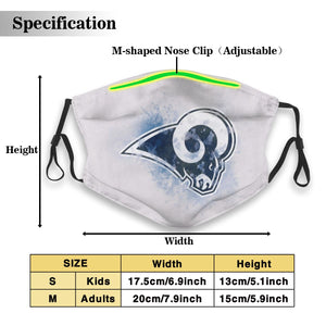 Rams Logo Anti-infective Polyester Face Mask With Filter-Heroinhere