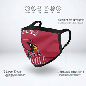 Cardinals Football Team Anti-infective Polyester Face Mask-Heroinhere