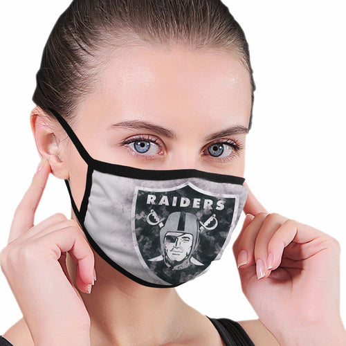 Raiders Logo Anti-infective Polyester Face Mask-Heroinhere