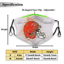 Load image into Gallery viewer, Browns Logo Anti-infective Polyester Face Mask With Filter-Heroinhere