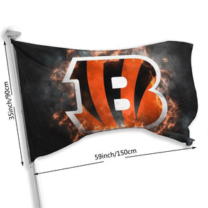 Bengals Illustration Art Flag 3*5 ft-Heroinhere