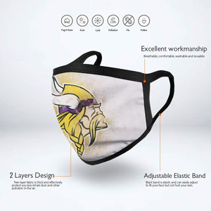 Vikings Logo Anti-infective Polyester Face Mask-Heroinhere