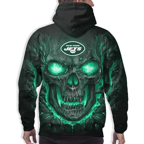 QIANOU66 Skull Lava Jets Hoodies For Men Pullover Sweatshirt-Heroinhere