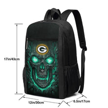 Load image into Gallery viewer, Packers 3D Skull Lava Travel Laptop Backpack 17 IN-Heroinhere
