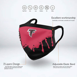 Falcons Team Anti-infective Polyester Face Mask-Heroinhere